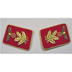 PAIR OF WW2 GERMAN NAZI POLITICAL LEADER OFFICER C