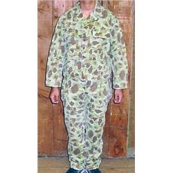 WW2 US ARMY CAMOUFLAGE COMBAT HBT JACKET AND PANTS