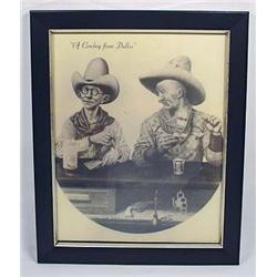 LTD ED.  COWBOY FROM DALLAS  PRINT BY B.R. MCCOWEN