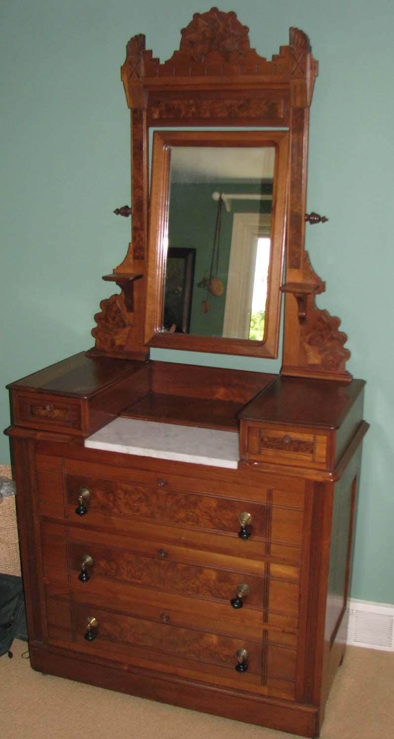 Image 4 East Lake Victorian Marble Top Dressing Table With Mirror