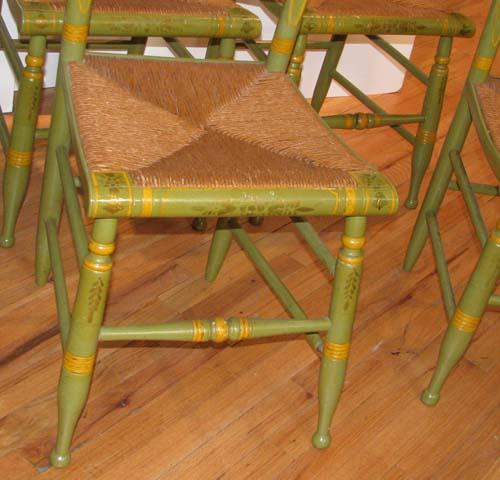 ... Image 5 : Set Of 6 Painted Antique Hitchcock Chairs ...