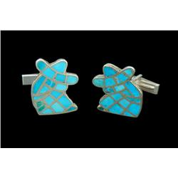 Cuff links, Zuni, second half of the 20th century
