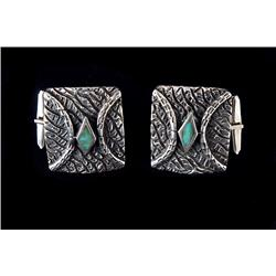 Cuff links, Navajo, second half of the 20th century