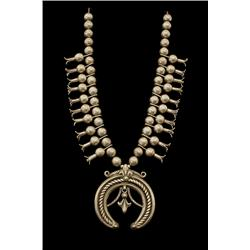 Squash Blossom Necklace, Navajo, first quarter of the 20th century