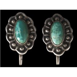 Earrings, Navajo, third quarter of the 20th century