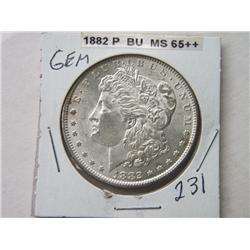 1882-P MORGAN DOLLAR