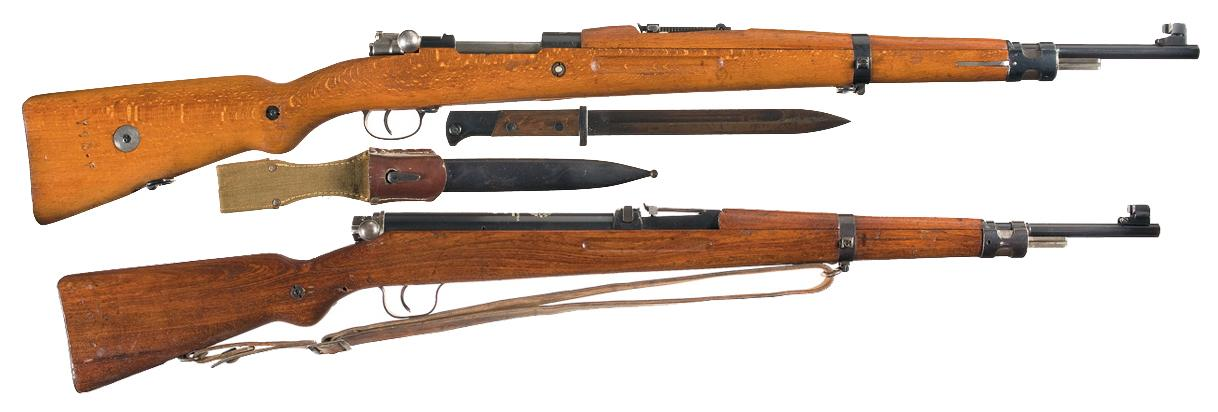 one bolt action rifle and one training air rifle a iranian persian