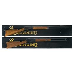 Two Boxed Browning Model 1886 Lever Action Carbines A) Browning Model 1886 Grade 1 Lever Action Carb