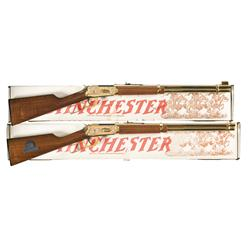 Two Boxed Winchester Model 94AE Commemorative Rifles A) Winchester Model 94AE Mount Rushmore Golden