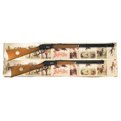 Two Consecutively Numbered Boxed Winchester Buffalo Bill Commemorative Lever Action Long Guns A) Win