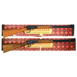 Two Boxed Winchester Lever Actions A) Winchester Model 94 Lever Action Saddle Ring Carbine with Box
