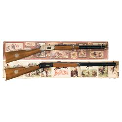 Two Boxed Winchester Commemoratives A) Winchester Model 94 Cowboy Commemorative Saddle Ring Carbine