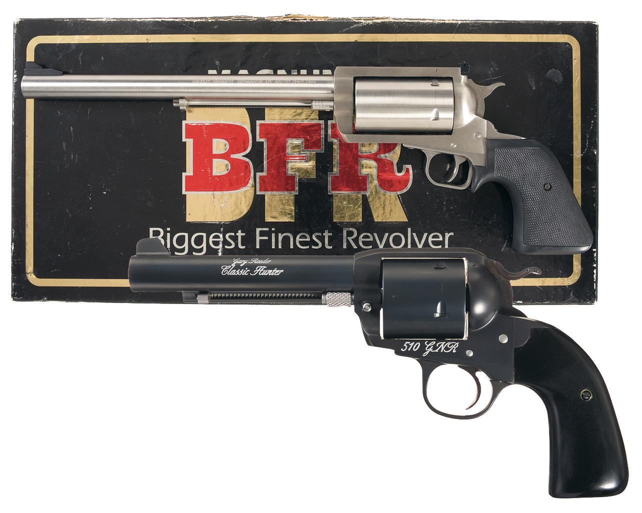 Two Revolvers A Magnum Research Bfr Single Action 45 70 Revolver