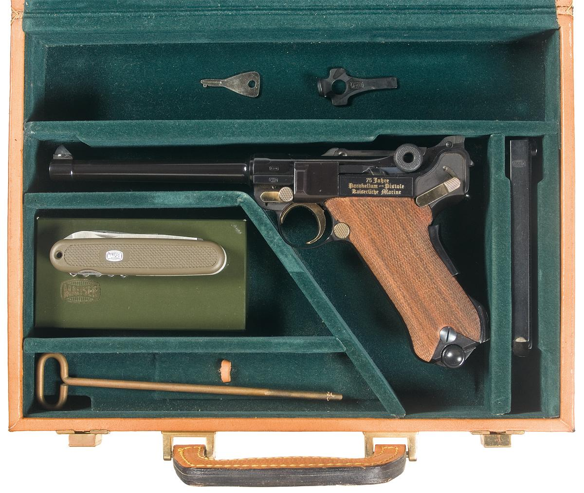 Mauser Quot 75th Year Quot Anniversary Navy Luger Pistol With