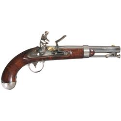 Excellent Johnson U.S. Model 1836 Flintlock Pistol