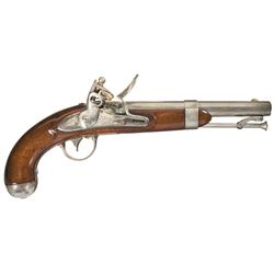 U.S. Model 1836 Johnson Contract Flintlock Pistol