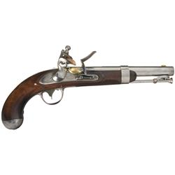 Fine U.S. Johnston Model 1836 Flintlock Pistol