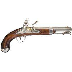 U.S. Waters Model 1836 Flintlock Pistol
