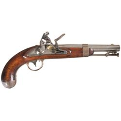 U.S. Asa Waters Model 1836 Flintlock Pistol