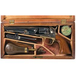 Very Fine Cased Colt Model 1862 Police Percussion Revolver with Accessories
