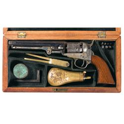 Very Fine Cased Colt Model 1849 Pocket Revolver with Accessories