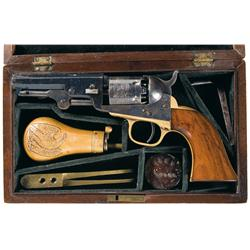Colt Model 1849 Percussion Pocket Revolver with Case and Accessories