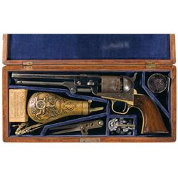 Colt Model 1851 Navy Revolver with Case