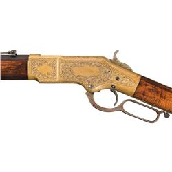 Fine Factory Engraved Winchester Model 1866 Lever Action Rifle