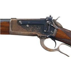 "Inscribed ""Africa 1909"" Deluxe Winchester Model 1886 Takedown Lever Action Rifle in Desirable 45-90"
