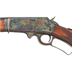 Deluxe Factory Engraved Marlin Model 1893 Lever Action Takedown Rifle with Fancy Walnut Pistol Grip