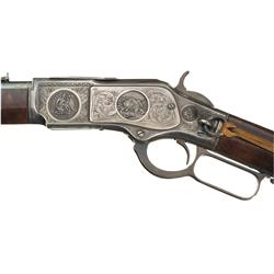 Abercrombie & Fitch Custom Embellished Winchester Model 1873 Saddle Ring Commemorative Carbine