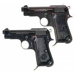 Collector's Lot of Two Beretta Semi-Automatic Pistols A) Beretta Model 1934 Army Semi-Automatic Pist