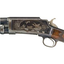 Factory Engraved Marlin Model 24 Slide Action Shotgun