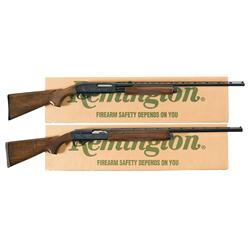 Two Remington Shotguns A) Remington Model 870 Wingmaster Slide Action Shotgun with Box
