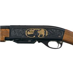 Limited Edition Engraved Remington Model 4 Diamond Anniversary Semi-Automatic Rifle with Box