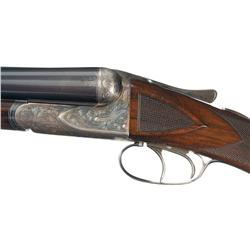 A.H. Fox 'B' Grade Double Barrel Shotgun with Mutton Case