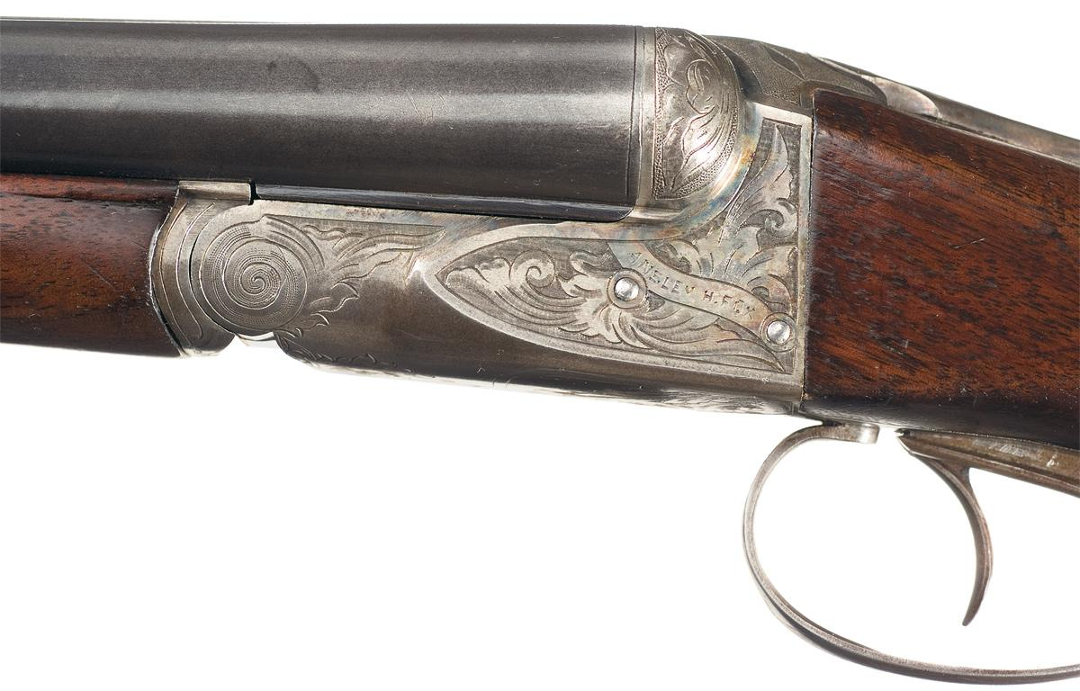 Engrave Ansley H. Fox 'AE' Grade Double Barrel 16 Gauge Shotgun with  Mutton. Loading zoom