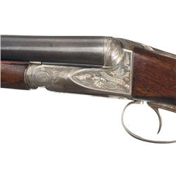 Engrave Ansley H. Fox 'AE' Grade Double Barrel 16 Gauge Shotgun with Mutton Case