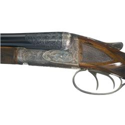 Gough Signed Special Order Engraved Ansley Fox XE Grade Double Barrel 20 Gauge Shotgun