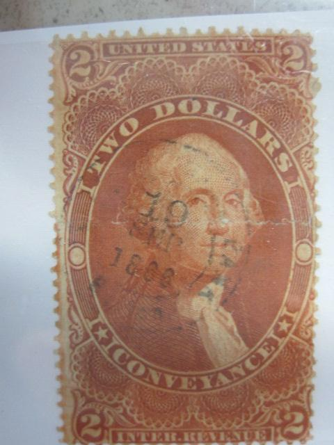 Image 1 United States 1862 71 81 Two Dollar Red Conveyance Internal