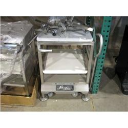 NEW FACE TO FACE CASTERED MEAT SLICER STAND