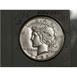 1935-S  PEACE DOLLAR