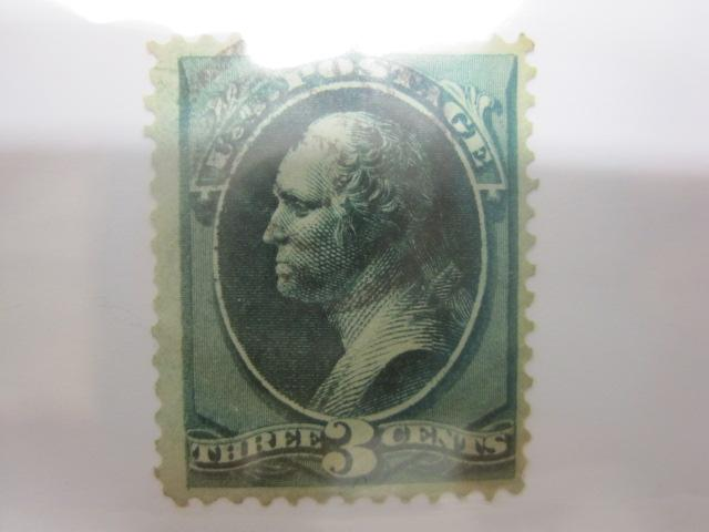 U S 1870 71 147 Cancelled 3 Cent Green George