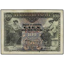 100 Pesetas. 30 Junio 1906. Serie C. Ed-B97a. MBC+. SPANISH BANK NOTES: BANCO DE ESPAÑA