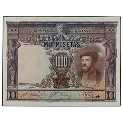 1.000 Pesetas. 1 Julio 1925. Carlos I. Ed-C2. EBC-. PAPER MONEY OF THE CIVIL WAR: ARAGÓN-FRANJ