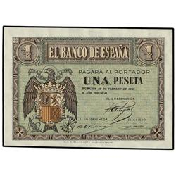 1 Peseta. 28 Febrero 1938. Serie E. Ed-D28. SC. SPANISH BANK NOTES: ESTADO ESPAÑOL