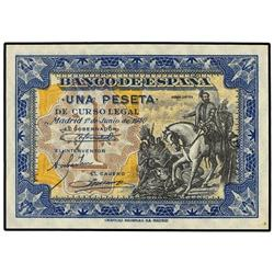 1 Peseta. 1 Junio 1940. Hernán Cortés. Sin Serie. Ed-D42. SC. SPANISH BANK NOTES: ESTADO ESPAÑ