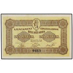 Serie 3 billetes 25, 50 Cèntims y 1 Pesseta. 3 Desembre 1937. Ah. e BELLAGUARDA. AT-358/360; T-425/4