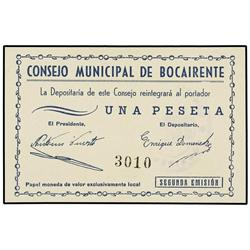 1 Peseta. S/F. C.M. de BOCAIRENTE (Valencia). Mont-No cat.; TV-421. SC. PAPER MONEY OF THE CIV
