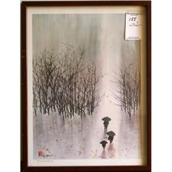 "Hsing Hua Chang ""Figures Walking in Winter Rain"""